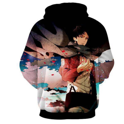 Image of Attack On Titan 3D Hoodie Levi Ackerman