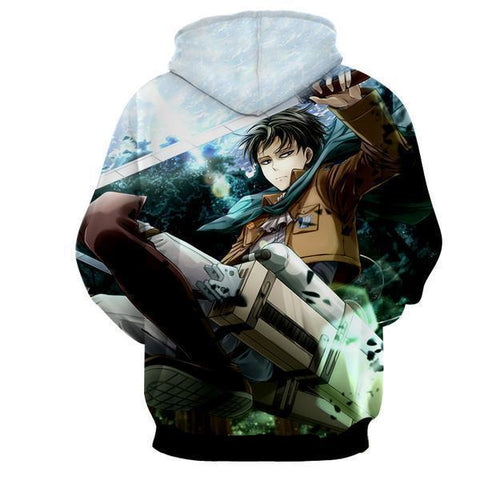 Image of Attack On Titan Levi Ackerman 3D Printed Hoodie