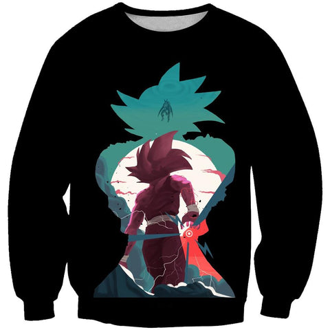 Image of Dragon Ball Z Goku and Gohan Hoodies - Black Pullover Hoodie