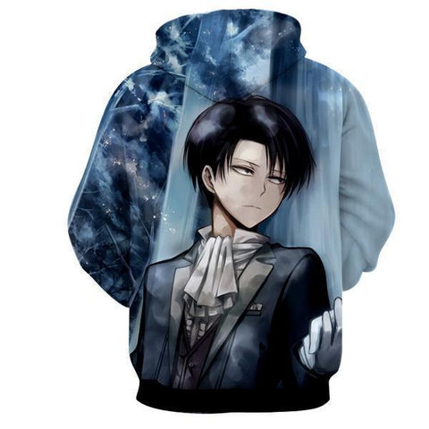 Image of 3D Printed Hoodie Levi Ackerman Attack On Titan