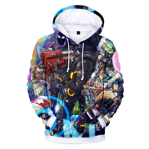 Image of Fortnite Hoodies - Fortnite Characters and Weapons 3D Hoodie