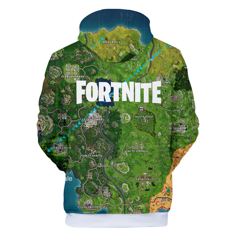 Image of Fortnite Hoodies - Fortnite Battle Map 3D Hoodie