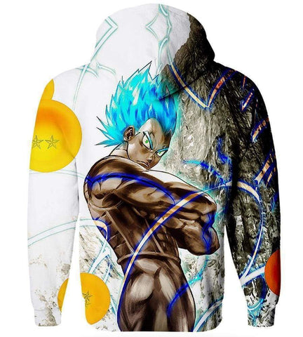 Image of Dragon Ball Z Goku Hoodies - Blue Hair Goku Hoodie