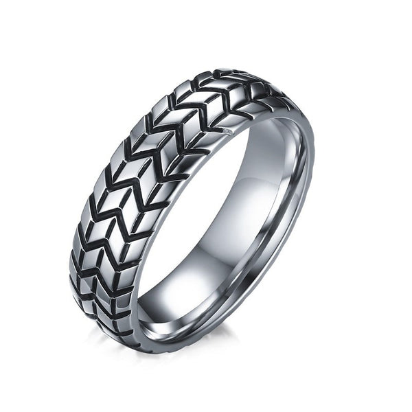 Car Tire Ring with Tread for Men