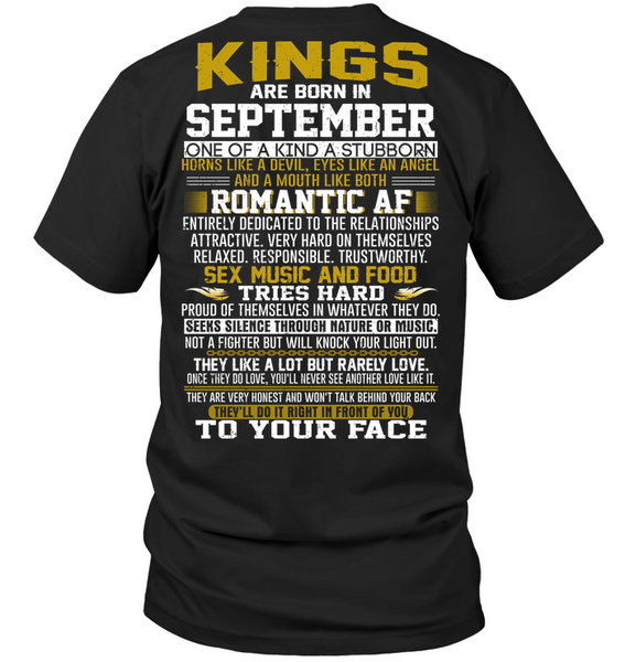 KING BORN IN SEPTEMBER