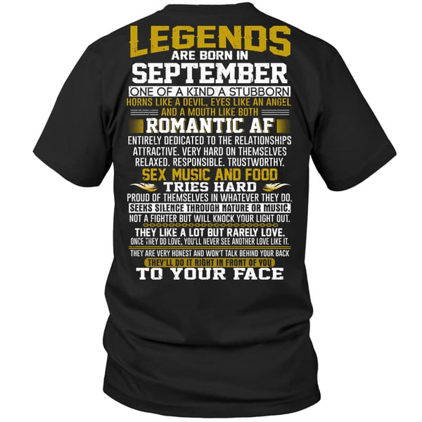 Legend Guy September - Hanes Tagless Tee / Black / S - Apparel