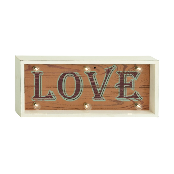 Letrero  Led Luminoso Love