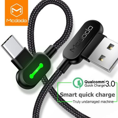 Image of MCDODO 3M USB Type C Fast Charging usb c cable Type-c Data Cord Android Charger usb-c Micro USB Cable For Samsung S8 S9 Note 8 - swagger4you