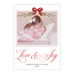 Love and Joy Holiday Card