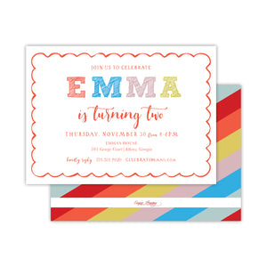 Colorful Birthday Party Invitation