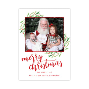 Berry Merry Christmas Holiday Card