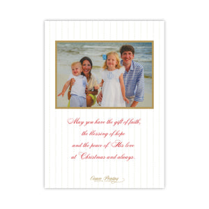 Red Holly Wreath Merry Christmas Holiday Card