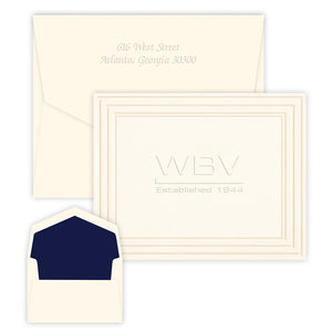Custom Logo Embossed Stationery