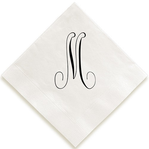 Traditional Single Letter Foil Pressed Napkins
