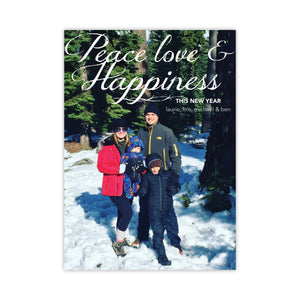 Peace, Love, & Happiness Holiday Card