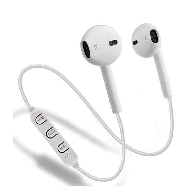 PTron Avento Bluetooth Headphones In-Ear Wireless Headset For All Samsung Smartphones (White)
