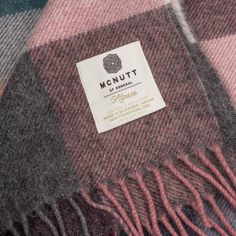 Alpaca Collection Rose Dust Check Throw