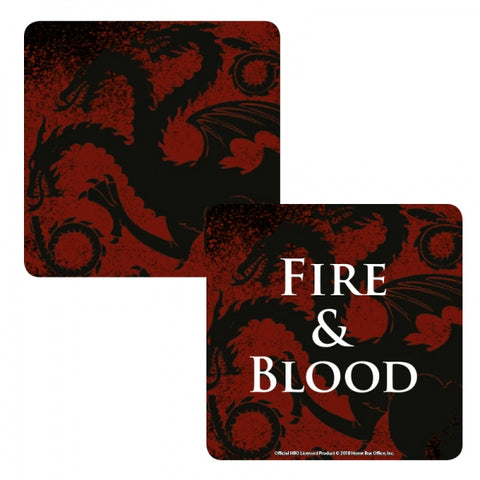 GAME OF THRONES LENTICULAR COASTER - TARGARYEN