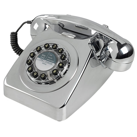 Wild and Wolf 746 Brushed Chrome Corded Phone