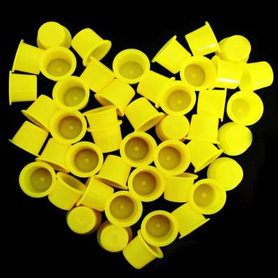 Yellow Tattoo Ink Cups