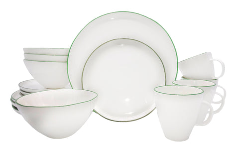 Abbesses 16-piece place setting - Green