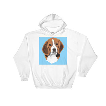 Men's / Women's Custom Pet Print Hoodie (White)