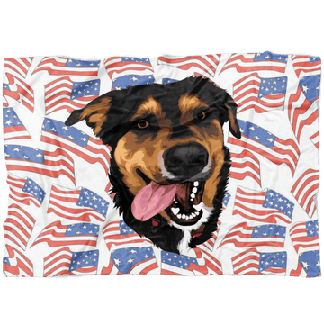 Independence Day Pet Print Fleece Blanket