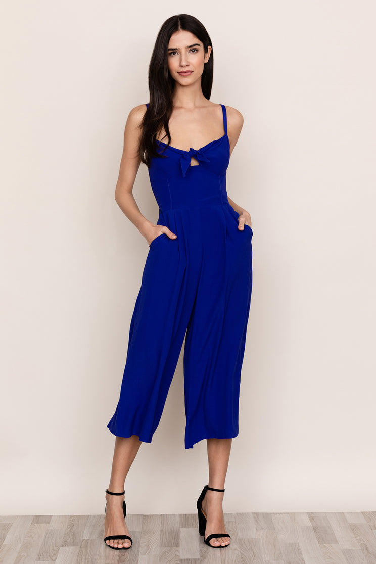 Switch out your day dress for Yumi Kim's Pretty Chic Royal Blue Jumpsuit Womens, perfect for brunch to date