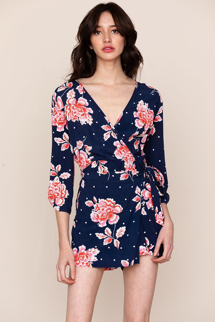 Meet Yumi Kim's IN THE MOMENT Long Sleeve Floral ROMPER.