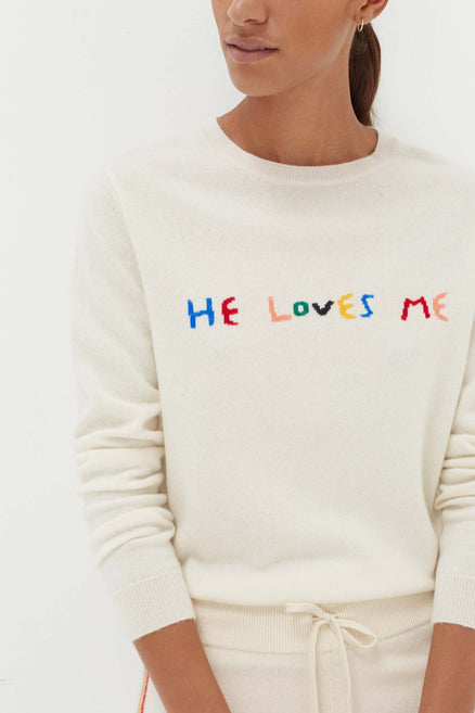 Cream Cashmere He Loves Me Sweater