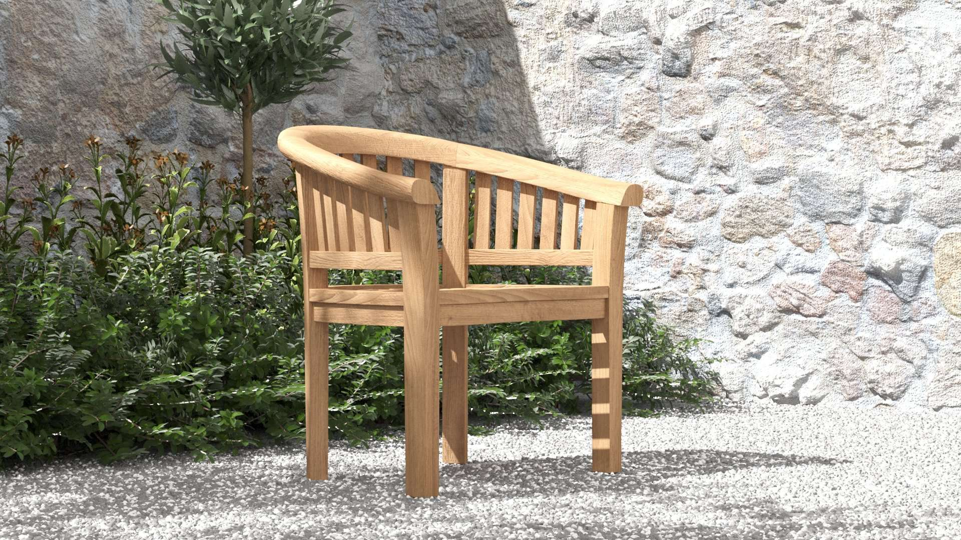Crescent Lounge Chair  - Chic Teak® | Luxury Teak Furniture