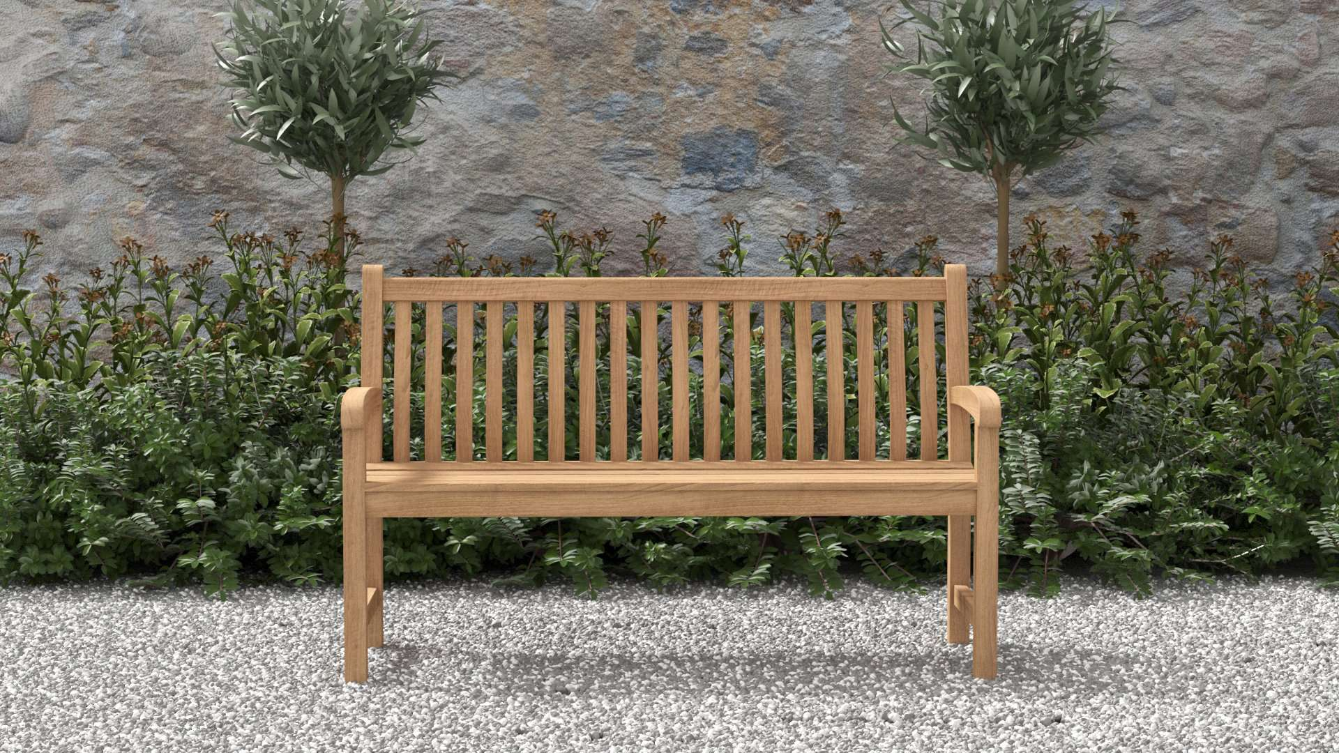 Durham Teak Bench 3 Seater  - Chic Teak® | Luxury Teak Furniture