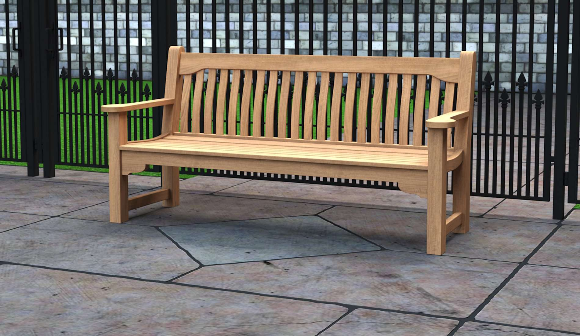 The York Teak Commemorative Bench 4 Seater  - Chic Teak® | Luxury Teak Furniture