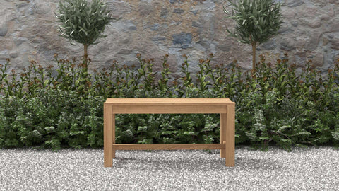 Teak Backless Bench 95cm