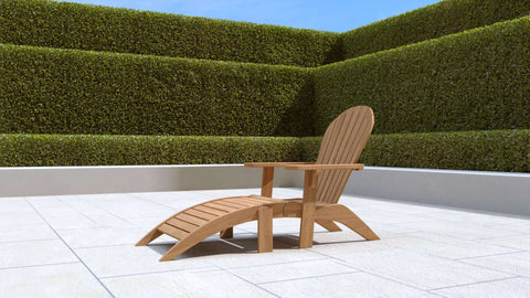 Adirondack Lounger with Footstool