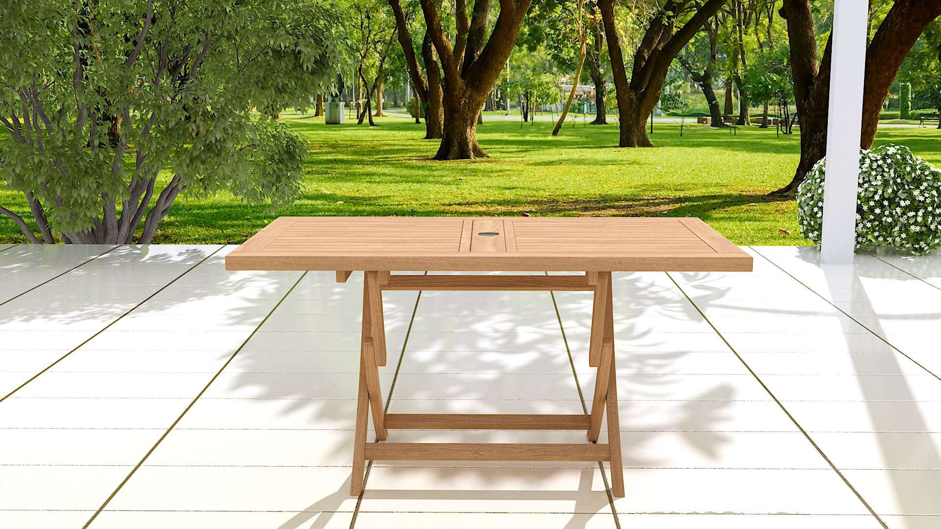 Rectangular Folding Teak Garden Table  - Chic Teak® | Luxury Teak Furniture
