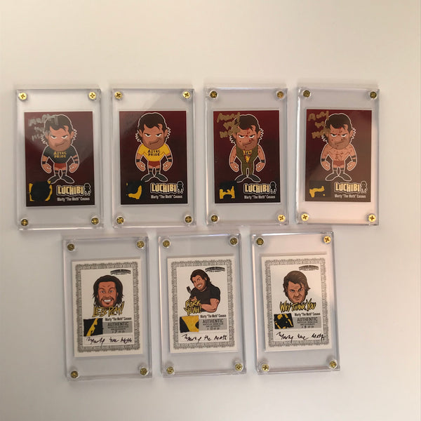 Triple Threat Card: Marty The Moth FULL SET OF 7 (Series 1)