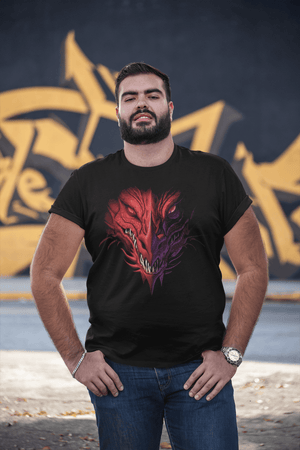 Short sleeve BJJ T-Shirt - Angry Dragon