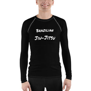 Men's BJJ Rash Guard - Simple Black