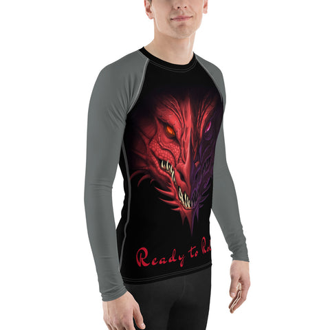 Men's Rash Guard - Angry Dragon