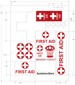 First Aid Systainer Label Sheet