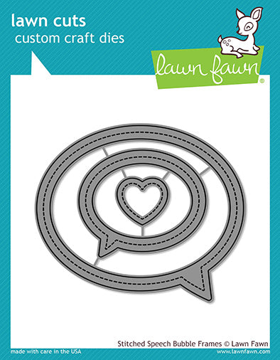 stitched speech bubble frames