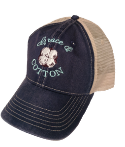 Navy/Ivory Trucker Hat - SOLD OUT - Grace and Cotton