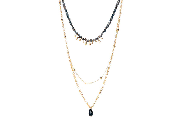 Elenor Grey Layered Necklace