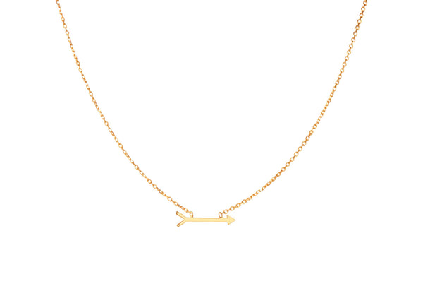 Dart Yellow Gold Plated Necklace
