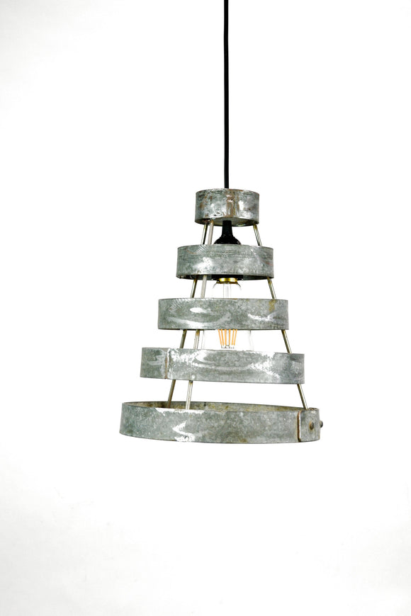 KARTA Collection - Keila - Wine Barrel Ring Staggered Pendant Light