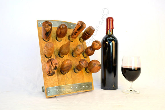 POMA Collection - Vintner's Dozen 2 - Wine Bottle Stopper Display