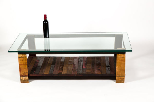 NAPA Collection - Tafeltop - Wine Tank Wood and Barrel Stave Coffee Table