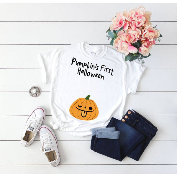 Maternity Halloween Top White - Quote My Gift