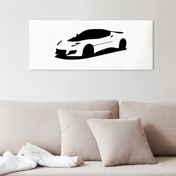 Simple Evora silhouette canvas art